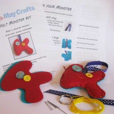 Make your own monster keyring   - felt craft kit