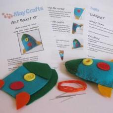 Make your own rocket - felt craft kit
