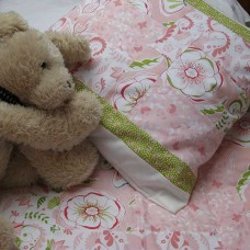 Butterflies and Blossom Quilt and Cushion (Crib set)